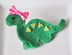 Dinosaur hair clips for girl favors