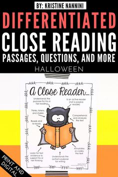 Halloween Close Reading Passages, Text-Dependent Questions & More - Your upper elementary students will be Close Reading experts with this great resource. You get 45+ pages of materials for the 3rd, 4th, 5th, or 6th grade classroom or homeschool. These work great during the month of October to learn about vampire bats, Halloween, pumpkin chunkin, and more! {third, fourth, fifth, sixth graders} #Fall #Halloween #UpperElementary #CloseReading