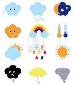 Weather elements collection. Illustration