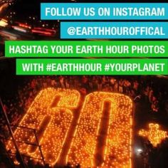 Don't forget to share your #EarthHour 2013 with us! We'll share the best images over the night that use the #YourPlanet hash-tag here and on Facebook. No matter where you are in the world you can join the global community and celebrate our outcomes over the past year. Dare the World to Save the Planet.