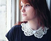 White Peter Pan Collar Crochet Necklace