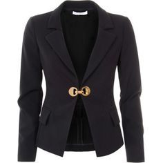 Versace Collection Black Polyamide Fitted Tailored Blazer Gold Blazer, Gold  Jacket, Blazer Jacket, f14925a6ba2