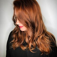 "All we can say about this copper Aveda hair color Aveda Artist Leah of Spruce Salon is ""Wow!"""
