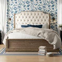 Ophelia & Co. Walburn Upholstered Standard Bed | Birch Lane Bedding Master Bedroom, Home Bedroom, Bedroom Furniture, Bedroom Ideas, Bedrooms, Bedroom Designs, Dream Bedroom, Bedroom Apartment, Bedroom Decor