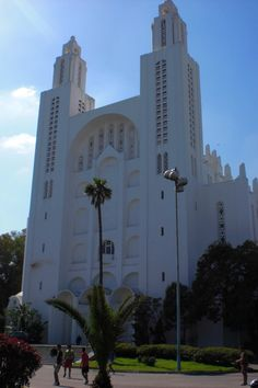 Catholic cathedral built by the French in Casablanca