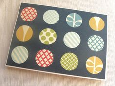 Retro Dot Note Cards Set of 4 Black Friday Cyber Monday