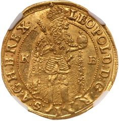 Goldberg Auctioneers / September Pre Long Beach ( - / World Gold / Lot Hungary. Ducat, NGC Leopold I, Ruler standing. Antique Coins, World Coins, Rare Coins, Old Paper, Ancient Art, Fountain Pen, Stamp, Antiques, Military