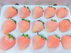 White strawberries 🍓💖 練乳かけた!?ってくらい甘い💥💥 Colorful Fruit, Exotic Fruit, Eat Me Drink Me, Food And Drink, White Strawberry, Farm Gardens, Dipped Strawberries, Vegetables, Squash