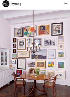 Gretchen says: Perfect wall. Lovely mix, great balance, signature, eclectic yet calm. Gallery wall