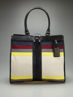 Love the color blocking on this L.A.M.B. bag