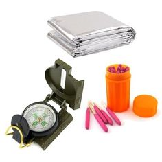 Generic Emergency Wild Survival Gear Kit Military Compass  Thermal Mylar Blanket  Storm Windproof Waterproof Matches -- You can get more details by clicking on the image.Note:It is affiliate link to Amazon. #95likes