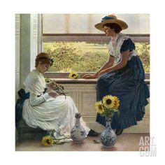 Sun and Moon Flowers, 1890 Giclee Print by George Dunlop Leslie at Art.com Flower Images, Counted Cross Stitch Patterns, Female Art, Oil On Canvas, Giclee Print, Fine Art, Drawings, Artwork, Moonflower