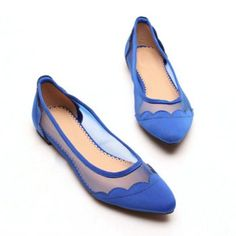 $20.25 Sexy Casual Splicing and Gauze Design Women's Flat Shoes. Think I found my shoes for the wedding.