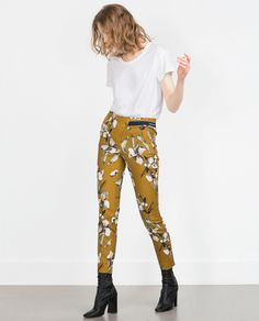 WATERCOLOR PRINT TROUSERS - Smart - Trousers - WOMAN | ZARA United States