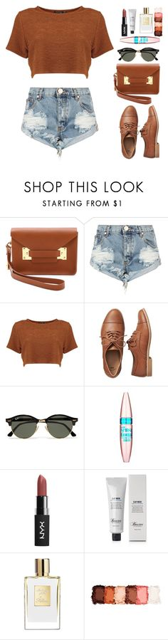 """""""Uneventful Summer"""" by sofia-collins8 ❤ liked on Polyvore featuring Sophie Hulme, One Teaspoon, Gap, Ray-Ban, Maybelline, Baxter of California and NYX"""