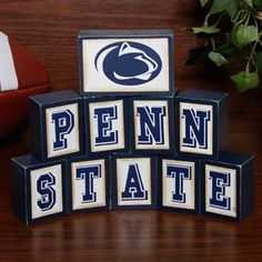 Penn State Nittany Lions Wooden Block Set