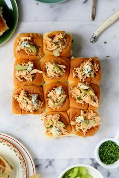 Spicy Buffalo Chicken Sweet Rolls with celery and chives | Joy the Baker