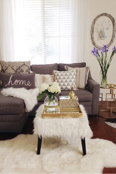 All these fabulous accessories are from HomeGoods! The main colors are neutral greys and whites. This creates the perfect backdrop for this decor to sparkle and shine. Sponsored by HomeGoods