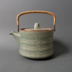 quistgaard tea pot coffee green rune mid century danish scandinavian bing grondahl kronjyden