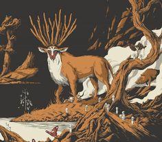 "Posterocalypse: Heads Up: Joe Wilson's ""Princess Mononoke"" Variant Art Print"