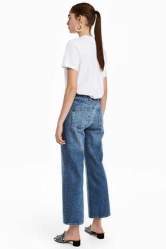 Wide High Waist Jeans - Azul denim - MUJER | H&M ES