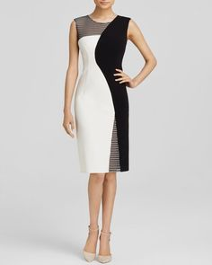 Milly Mesh Helix Dress