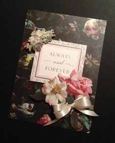 Fancy Romantic Anniversary or Love Card with Floral Anna Griffin Papers