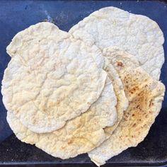 Recept glutenfritt mjukt , tunnbröd i stekpanna (vetefritt, vegan)