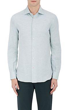 Isaia Cotton-Cashmere Dress Shirt - Casual - 505165669