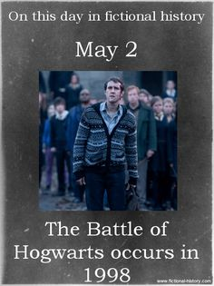 The Battle Of Hogwarts - May 2 La Saga Harry Potter, Harry Potter Facts, Harry Potter Birthday, Harry Potter Quotes, Harry Potter Books, Harry Potter Love, Harry Potter Universal, Harry Potter Fandom, Harry Potter Characters Birthdays