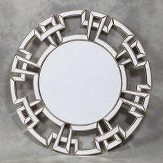 Silver Edged Frame Aztec Venetian Mirror