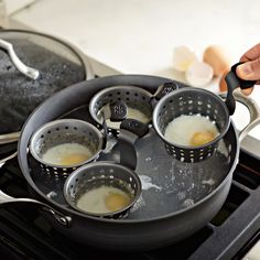 Williams Sonoma Egg Poaching Pan.  A must have for perfectly poached eggs!