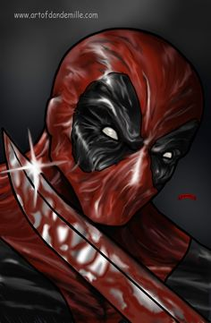 #Deadpool #Fan #Art. (Deadpool Merc Blade Marvel Comic ) By: Dan DeMille. ÅWESOMENESS!!!™ ÅÅÅ+