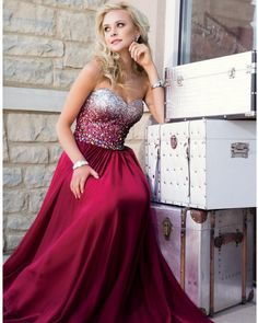 Mermaid dress prom sequin sparkle sparkles sparkly dress gown red ...