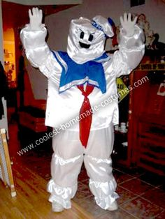 how to make a stay puft marshmallow man costume