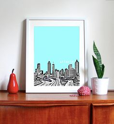 I need this skyline art for my gallery wall!