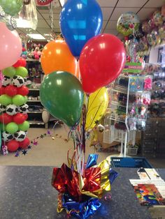 Short tabletop balloons on sticks facebook.com/party.outlet.valpo  Check out more photos