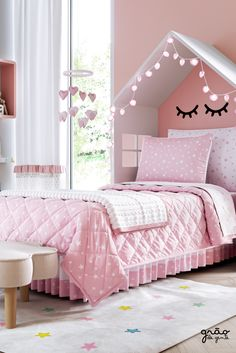 Girls Room Design, Bedroom Decor For Teen Girls, Baby Bedroom, Home Design Decor, Home Decor, Pink Bedrooms, Cute Room Decor, Dream Rooms, Home Living Room