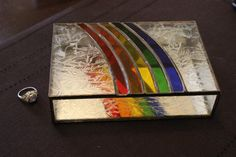 Stained Glass Rainbow Jewelry Box Vintage Ring Box CHRISTMAS Gift Idea Layaway If Needed