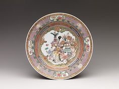 Dish with Scene of Woman and Children.Qing dynasty (1644–1911),ca. 1730–50.Porcelain painted in overglaze famille rose enamels and gold.Diam. 8 1/4 in. (21 cm).14.40.252;Bequest of Benjamin Altman, 1913.© 2000–2012 The Metropolitan Museum of Art.