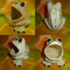 Frogs big mouth on pinterest sponge holder big mouths and frogs - Frog sponge holder kitchen sink ...