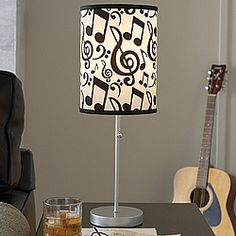 Musical Notes Cylinder Lamp!