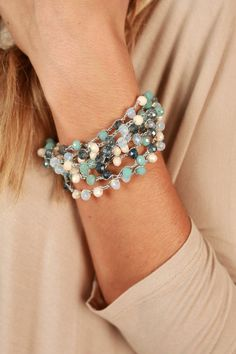 Love To Laugh Bracelet in Limpet Shell