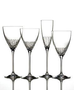 Vera wang gold rimmed classic footed wine glasses set of 4 - Vera wang martini glasses ...