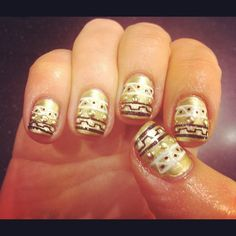 Studded Egyptian by WAH gurl Ebony #nails #nailart