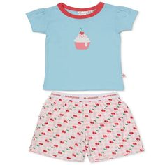 The Marquise cupcakepjs. bluetee and stripe shorts. Perfect for Summer night!  Marquise has lovingly provided Australian babies with their first clothes and nursery accessories since 1932.  With dedication Marquise provide comfort and classic quality we look forward to caring for generations to come.  Warm machine wash and do not tumble dry. Kids Pajamas, Pyjamas, Pjs, Stripe Shorts, Nursery Accessories, Summer Nights, Cupcake, Rompers, Warm