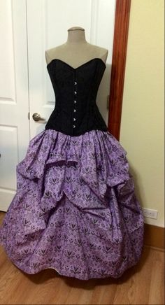 Haunted Mansion Steampunk Victorian Bella Bustle Pick-up Skirt CUSTOM MADE to order Satin or Cotton by TracyMichelleCouture on Etsy https://www.etsy.com/listing/217486366/haunted-mansion-steampunk-victorian