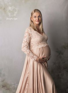 Beautiful Mama wearing a gorgeous pink maternity gown for her photo session. Maternity Gowns, Maternity Session, Sunset Maternity Photos, Eye Photography, Bright Eyes, Maternity Photographer, Pregnancy Photos, Photo Sessions, Beautiful Images