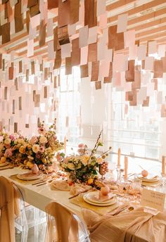 This is over the top gorgeous - I love the color palette for a birthday or baby shower, and the tissue paper is a lovely, cheap, time-consuming element :)