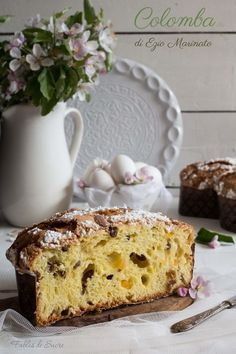 Sweet Bread, Biscotti, Vanilla Cake, Bread Recipes, Tiramisu, Food Photography, Sweets, Sugar, Baking